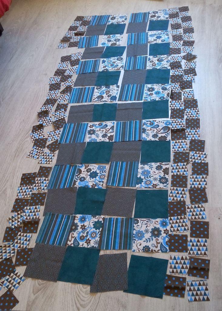 Assemblage plaid - Plaid en patchwork folklore pour mon canapé, merci Tina