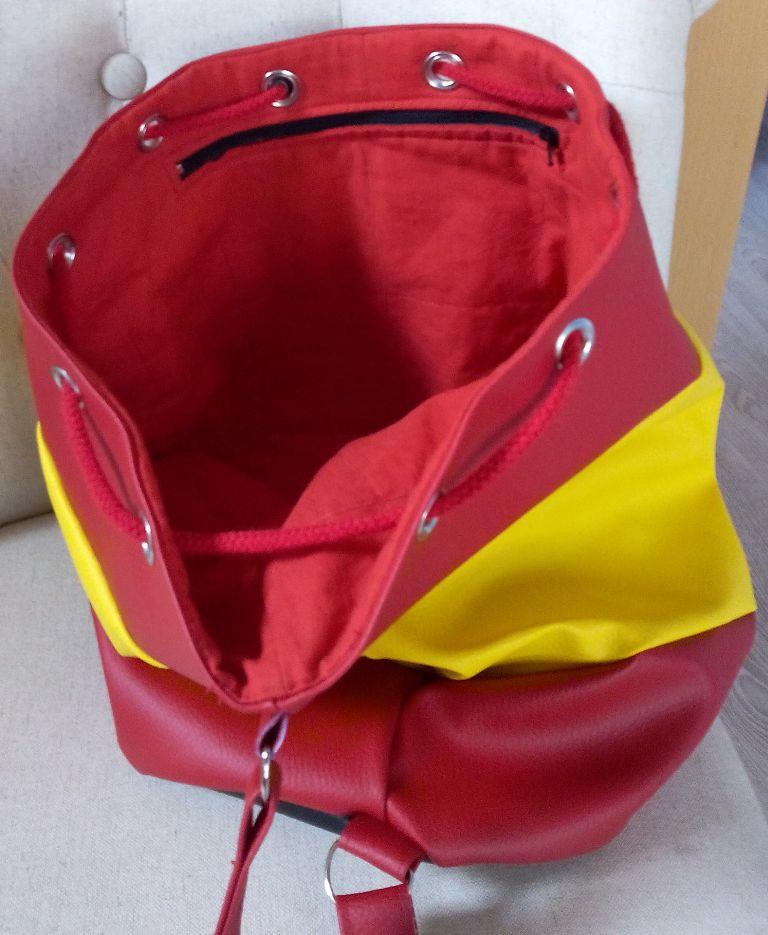 Viva España un sac marin aux couleurs de l'Espagne - vue intérieure, poche zippée