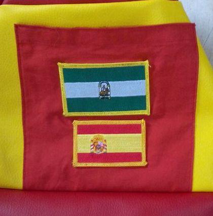 Viva España un sac marin aux couleurs de l'Espagne - Zoom poche avant Ecussons