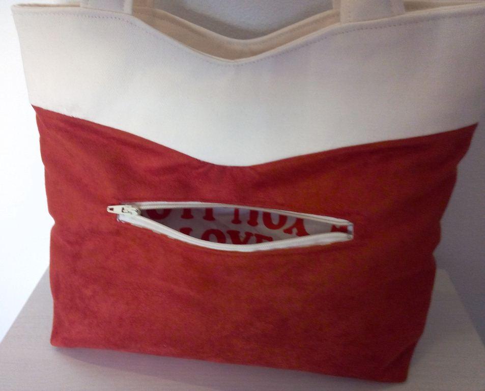 Mon sac Annie sobre mais classe - Poche extérieure zippée