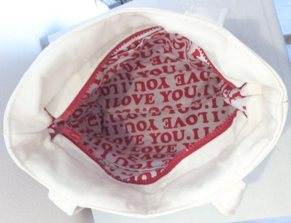 """Mon sac Annie sobre mais classe - Intérieur, doublure """"I love you"""""""
