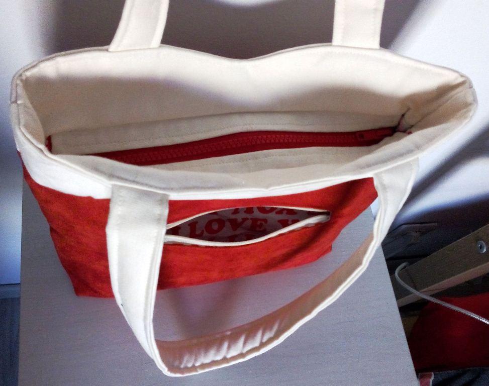 Mon sac Annie sobre mais classe - Poche extérieure zippée - Vue parementures zip séparable