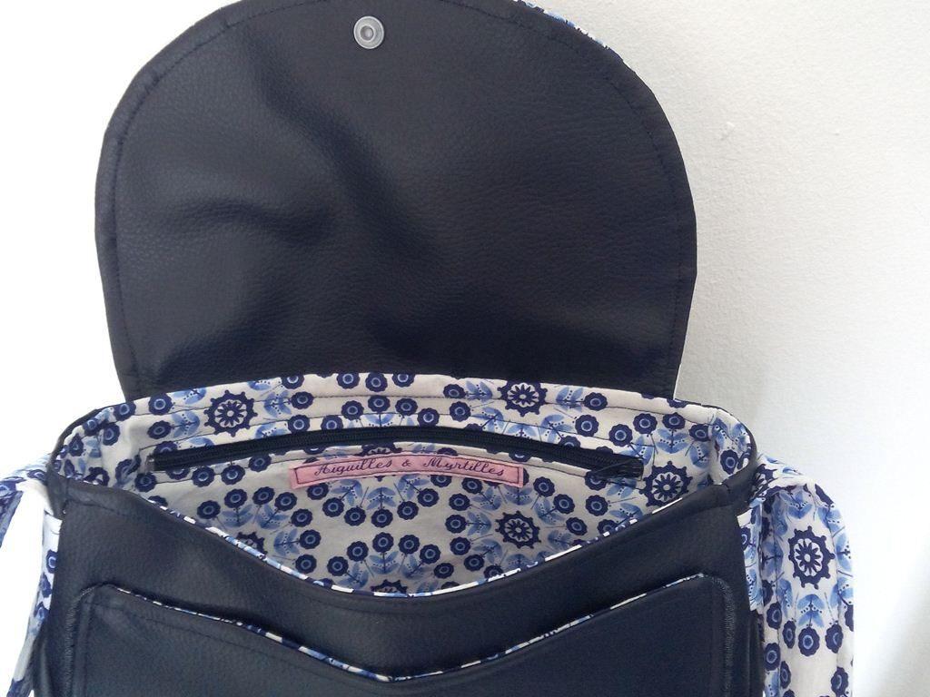 Un sac Bérénice aux motifs psychédéliques - Vue intérieur