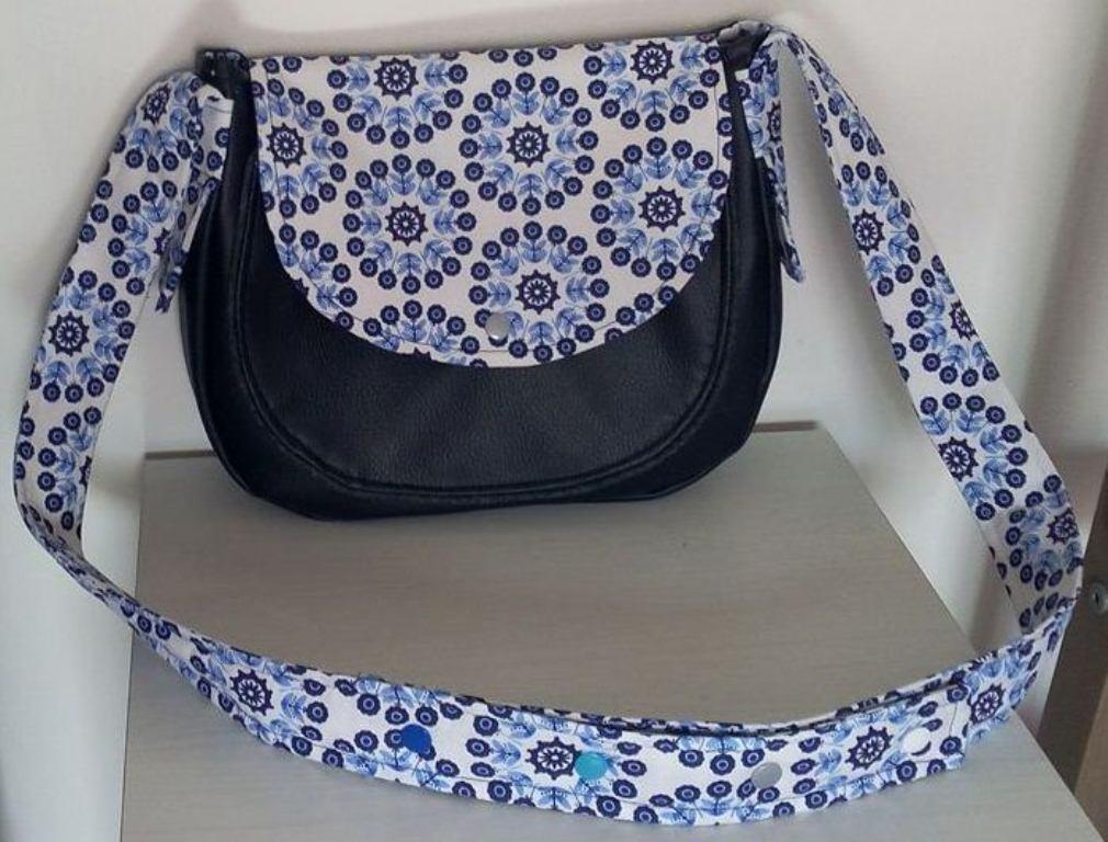 Un sac Bérénice aux motifs psychédéliques