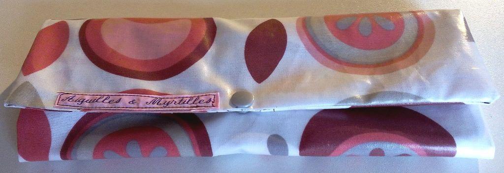 Pochette à couverts assortie à mon lunch bag - fermée