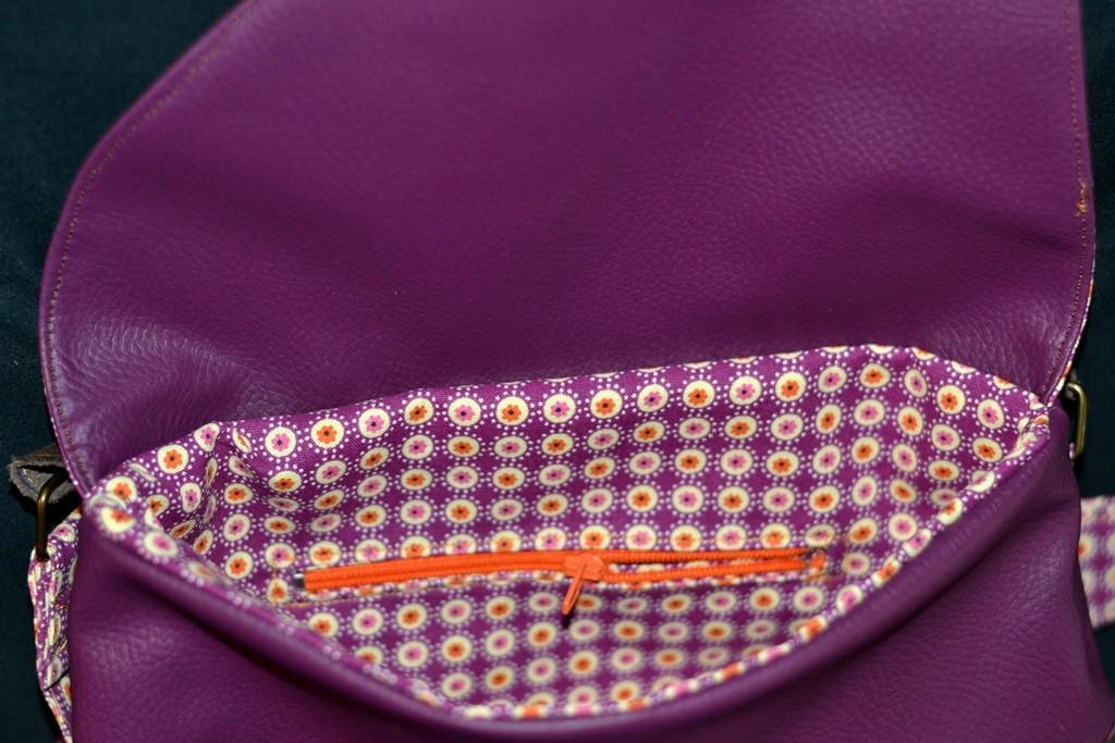 Simili cuir et tissu coton imprimé