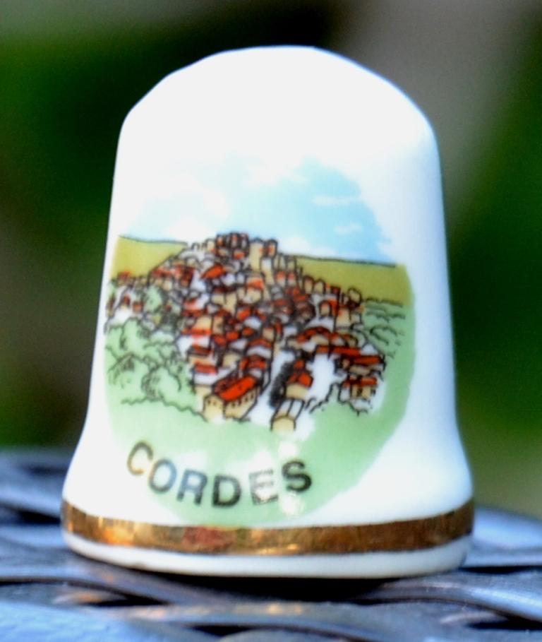Dé à coudre souvenir Cordes