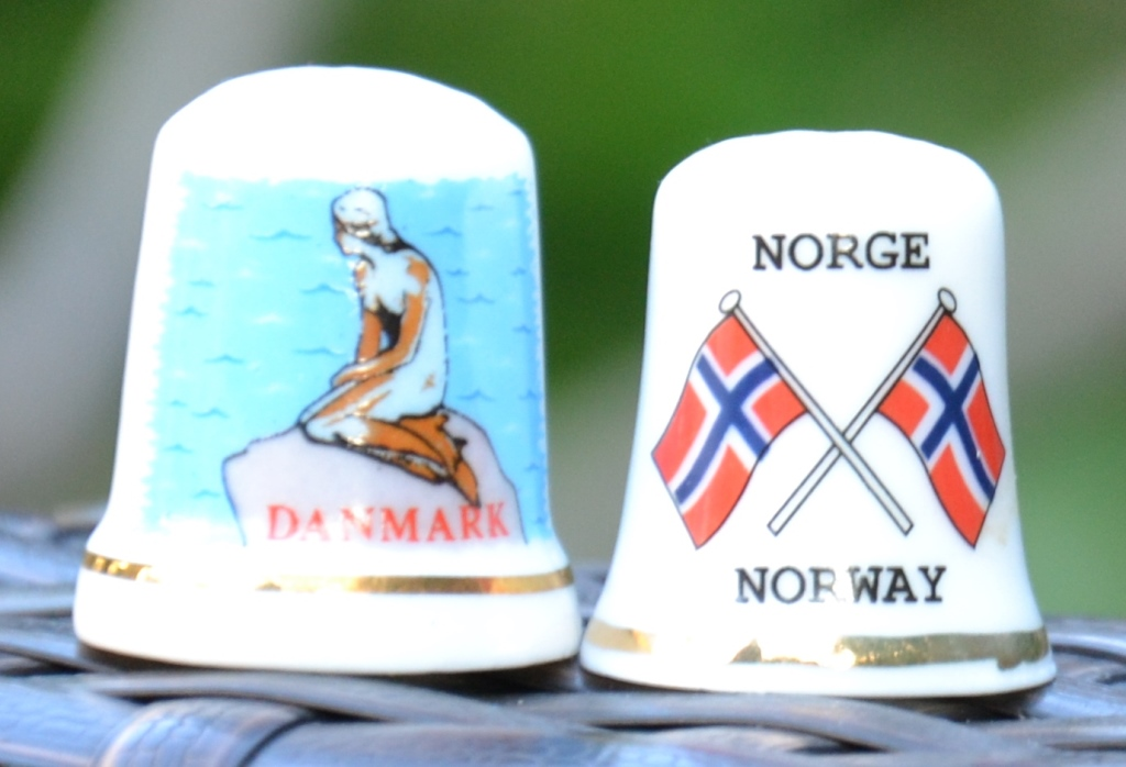 Dé à coudre souvenir Danmark, Norway