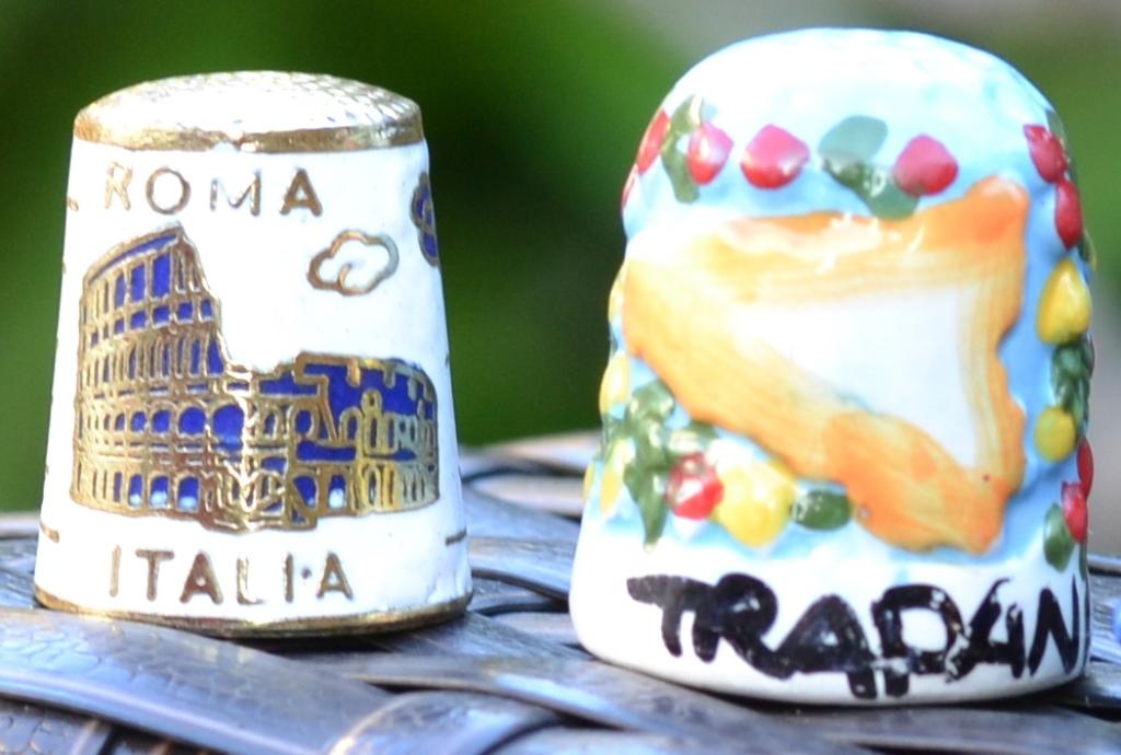 Dé à coudre souvenir Roma, Tradani (Siciliaà