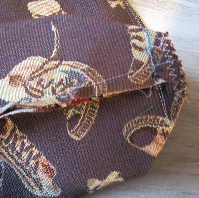 Création profondeur du sac dans le tissu extérieur