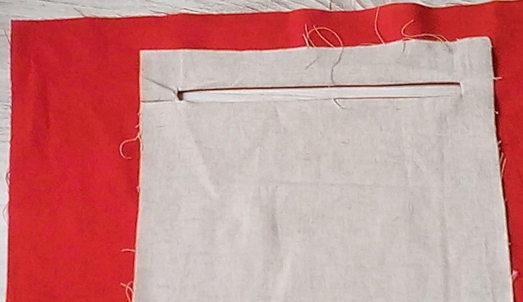 Carrés tissu chouette - Insertion d'une poche intérieure zippée