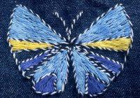 Un papillon pour continuer mon initiation à la broderie